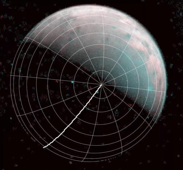 Há chuvas constantes de plasma no polo norte de Ganímedes (Foto: NASA/JPL-Caltech/SwRI/ASI/INAF/JIRAM)