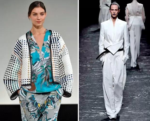 As opções desfiladas pela Hermès e por Haider Ackermann (Foto: Marcio Madeira)