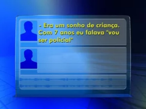 Criminoso mandou mensagem por rádio da PM durante roubo de viatura (Foto: Reprodução/TV TEM)