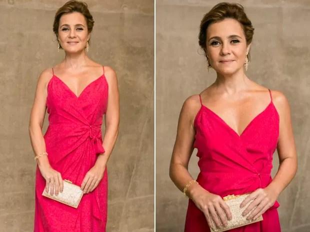 Com a intenção de deixar Beatriz no chinelo, Inês escolheu look pink (Foto: Isabella Pinheiro / Gshow)