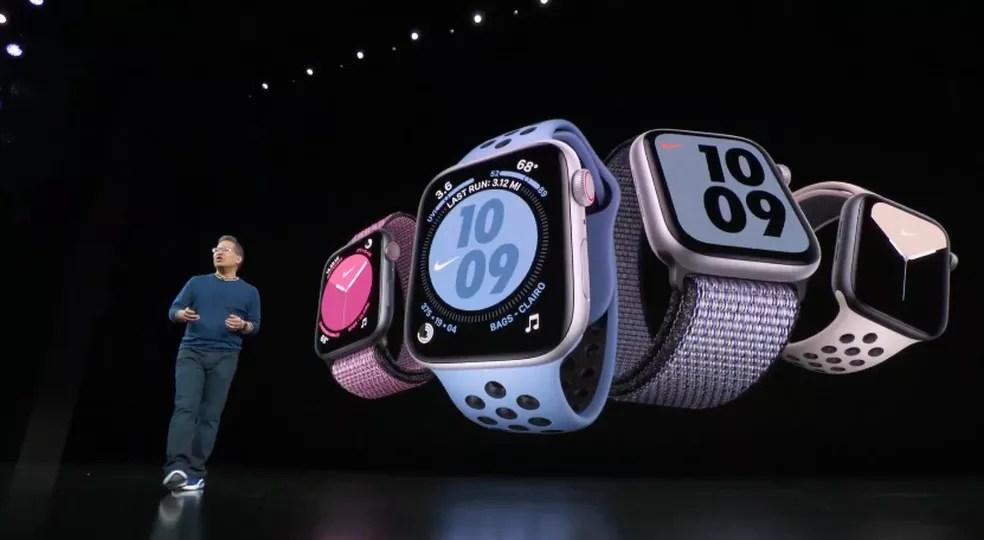 Apresentação do Apple Watch Série 5 — Foto: Reprodução/Apple