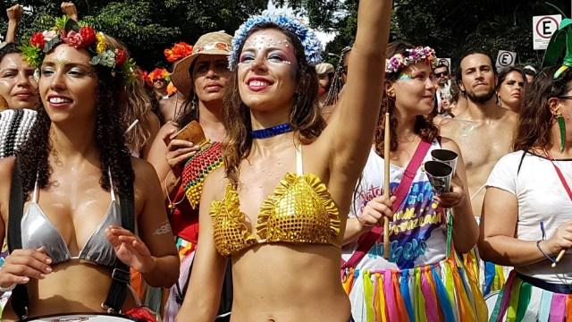 Juventude Bronzeada é um dos destaques da terça-feira de carnval — Foto: Raquel Freitas/ G1