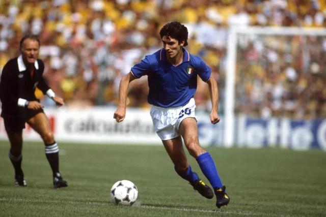Paolo Rossi na Copa do Mundo de 1982 — Foto: Getty Images