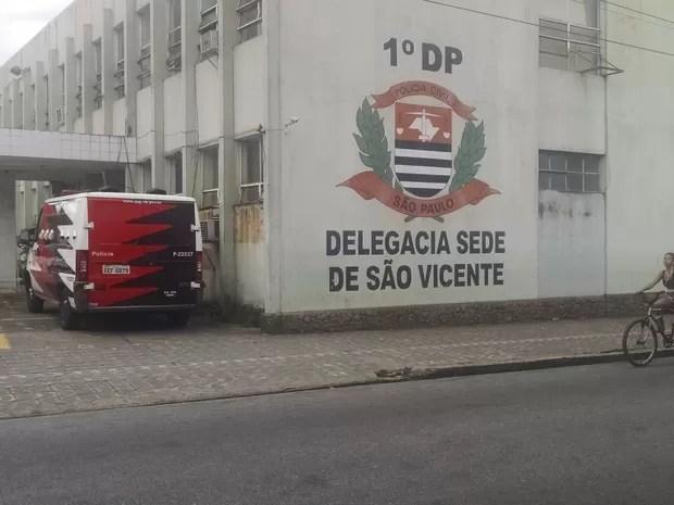 Caso foi encaminhado para o 1º DP de São Vicente (Foto: Rafaella Mendes / G1)