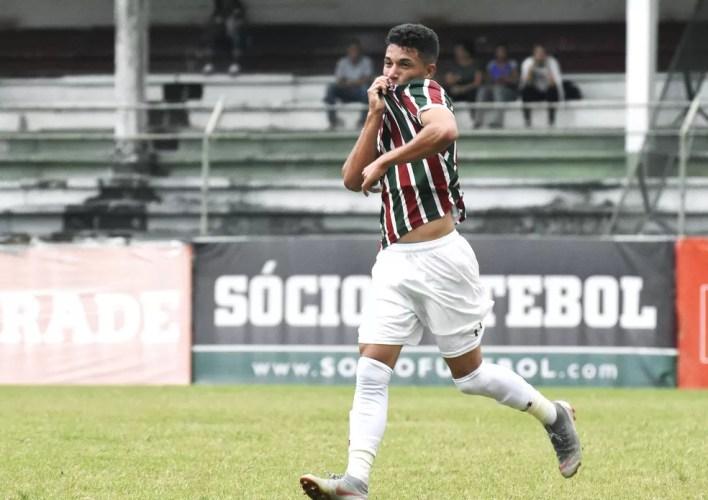 Leandro, de 18 anos, é o artilheiro do Flu no OPG, com sete gols — Foto: Mailson Santana/Fluminense
