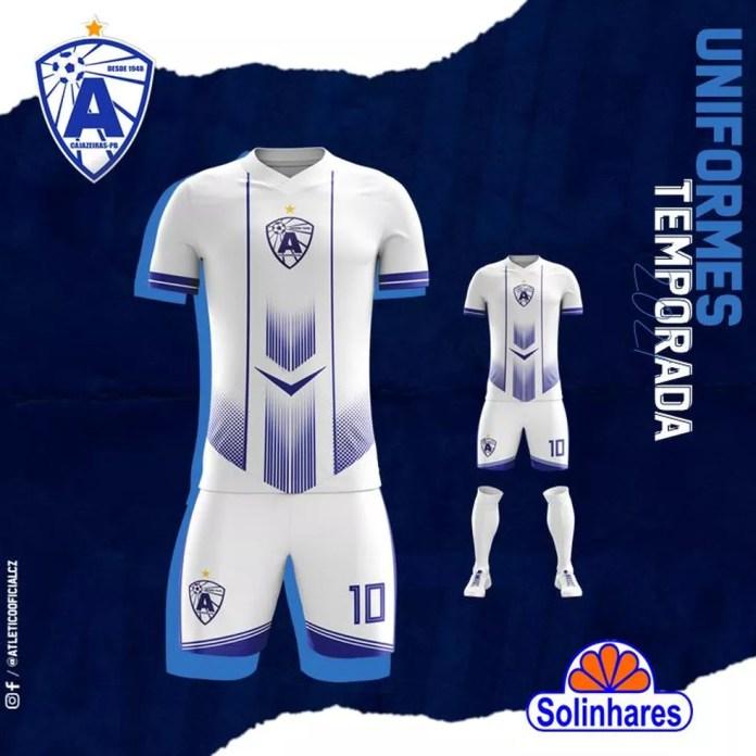 A mudança mais significativa no segundo uniforme atleticano fica por conta do escudo, que ficará centralizado na camisa. — Foto: Divulgação / Atlético-PB