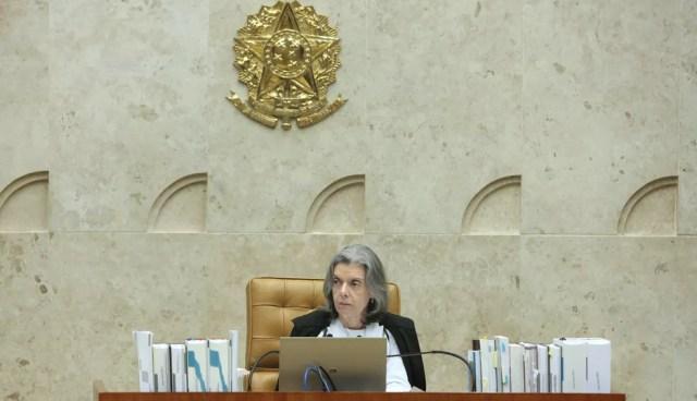 A presidente do Supremo Tribunal Federal (STF), ministra Cármen Lúcia, durante sessão da Corte nesta quinta-feira (12) (Foto: Carlos Moura/STF)