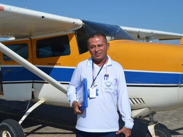 Um ano após o acidente o piloto Nonato Lima já voltou a voar a fazer resgates (Foto: Inaê Brandão/G1 RR)