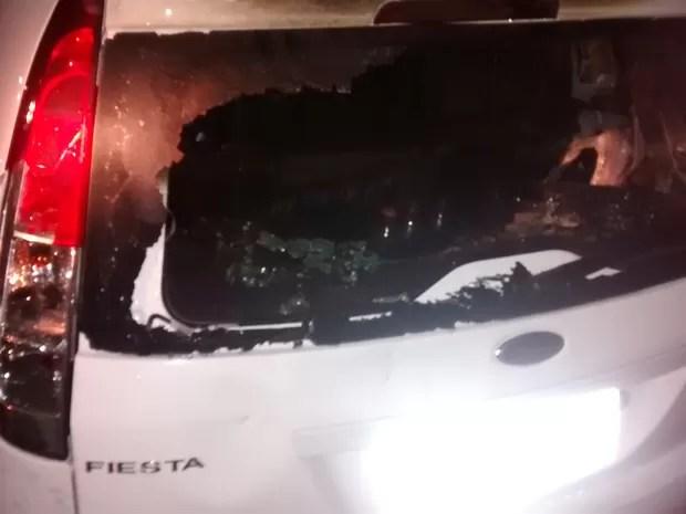 Flávia Fonseca depredou o carro do marido após descobrir traição (Foto: João Machado/Aquivo)