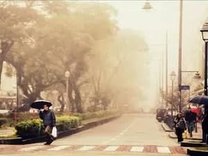 Petrópolis em dia de inverno (Foto: Arquivo pessoal/Marco Oddone)