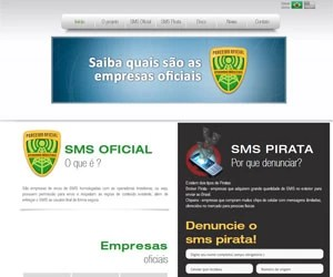 Portal 'SMS Pirata' denuncia mensagens de texto (SMS) ilegais às operadoras. (Foto: Reprodução)