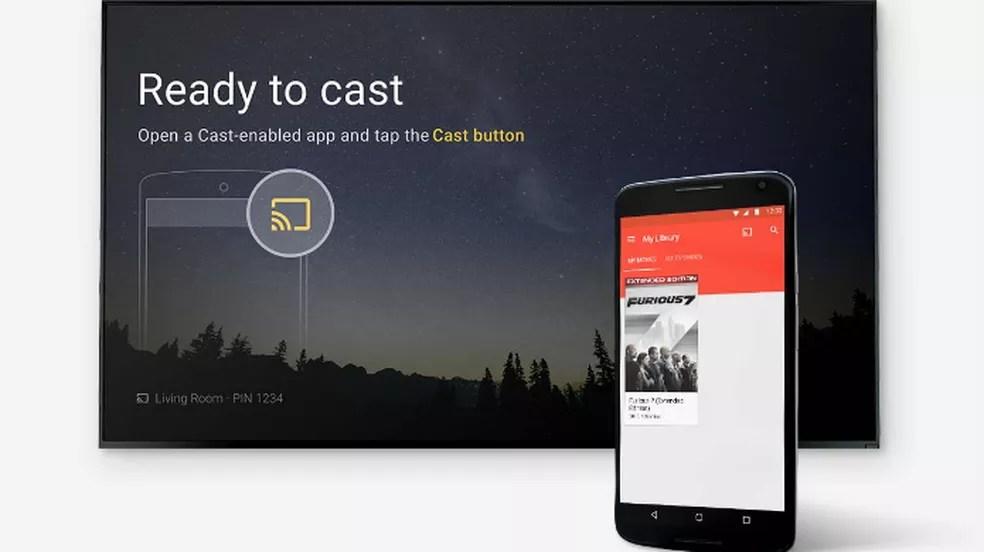 Chromecast é controlado pelo smartphone (Foto: Divulgação/Google)