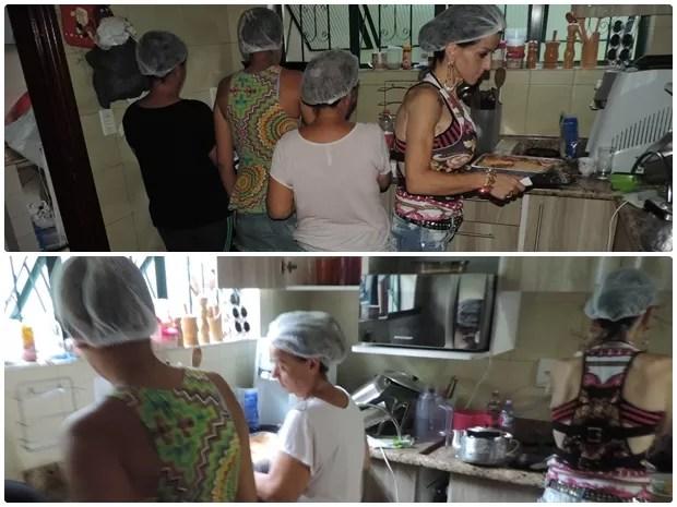 De manhã e à tarde, o casal tem a ajuda de familiares para atender pedidos (Foto: Caio Gomes Silveira/ G1)