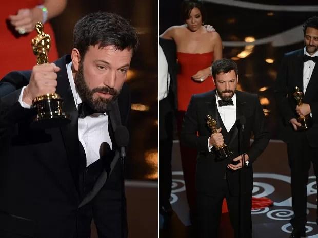 Ben Affleck recebe o Oscar de Melhor Filme por 'Argo' (Foto: AFP PHOTO/Robyn Beck)