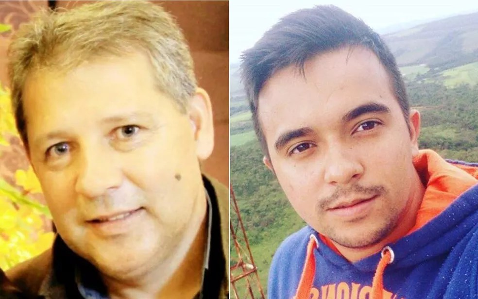 Vice-prefeito de Cocalzinho de Goiás, Alair Neto, e o filho dele, Yago Azevedo, ficaram feridos em acidente (Foto: Facebook/Reprodução)