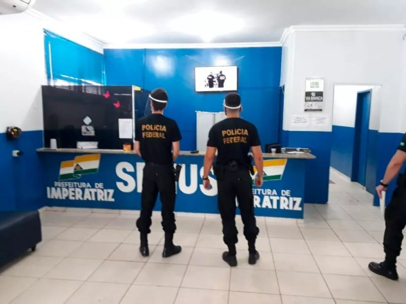 Polícia Federal investiga fraudes em licitações com recursos para a Covid-19 em Imperatriz — Foto: Divulgação