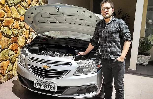 Eduardo Teixeira proprietário de Chevrolet Onix com problema na válvula de admissão (Foto: Arquivo Pessoal)