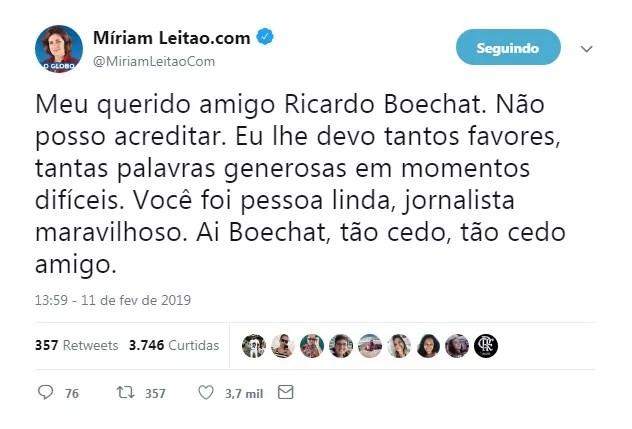Miriam Leitão (Foto: Reprodução)