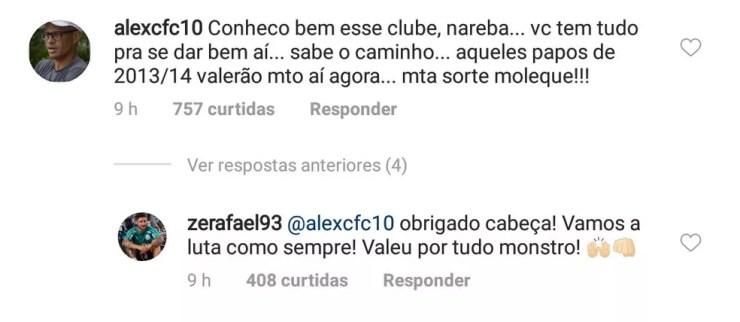 Alex e Zé Rafael no Instagram — Foto: Reprodução