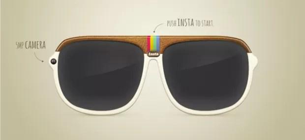 Projeto de óculos que colocam filtros do Instagram na rotina do usuário (Foto: Reprodução)