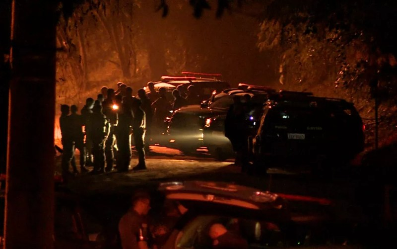 Operação da Polícia Militar contra quadrilha terminou com sete suspeitos mortos em Campinas (Foto: Reprodução/EPTV)