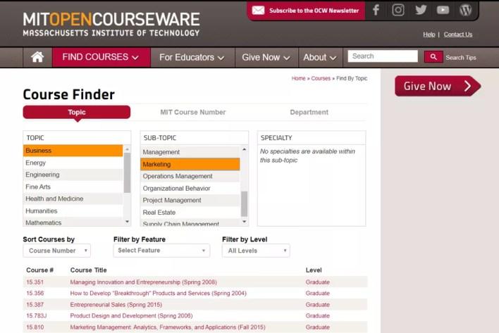MIT tem vasto catálogo de cursos online gratuitos em diversas áreas do conhecimento — Foto: Reprodução/MIT
