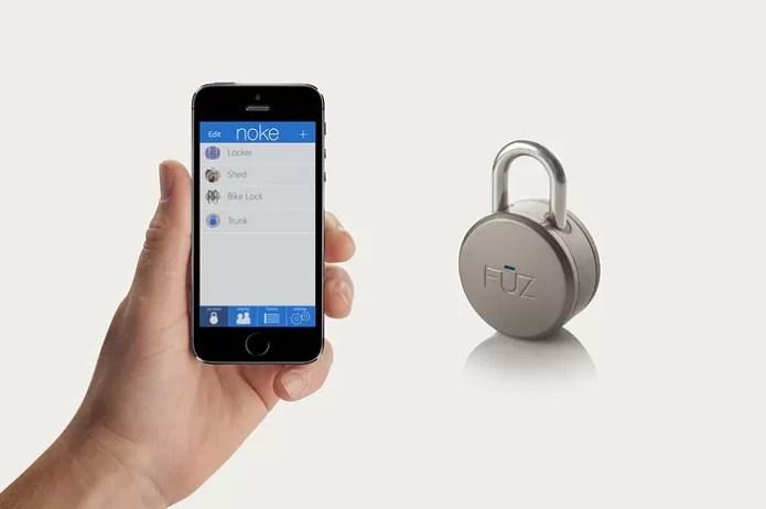 Cadeado Noke destrava facilmente com comando enviado do smartphone (Foto: Divulgação/KickStarter)