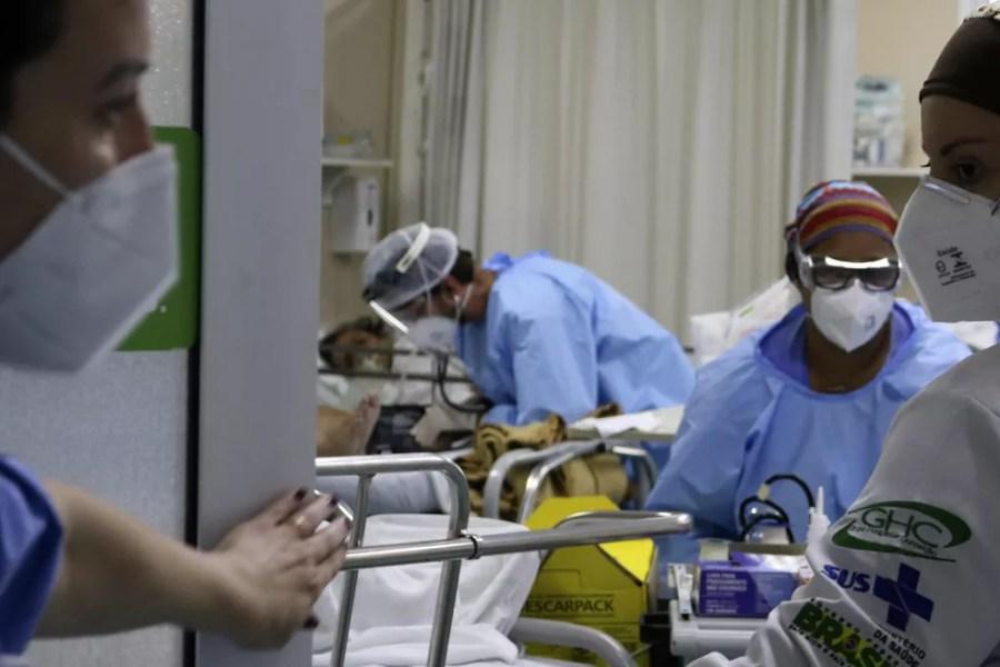 A UPA Moacyr Scliar, vinculada ao GHC, na zona Norte de Porto Alegre (RS), já atendeu mais de 25 mil pacientes da COVID-19 — Foto: MIGUEL NORONHA/FUTURA PRESS/FUTURA PRESS/ESTADÃO CONTEÚDO