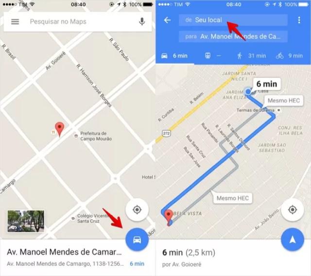 Aprenda a criar rotas no Google Maps e ir de um lugar ao outro