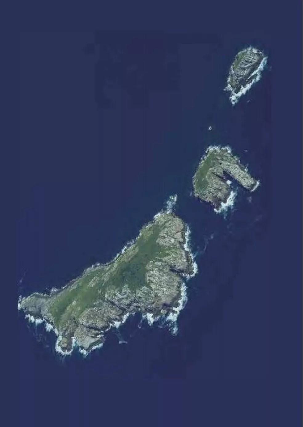 Arquipélago de Moleques do Sul — Foto: Plano de ação para conservação de SC/Reprodução