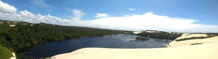 Lagoa de Genipabu: comerciantes acreditam que local voltará a ser ponto turístico — Foto: Tiego Costa
