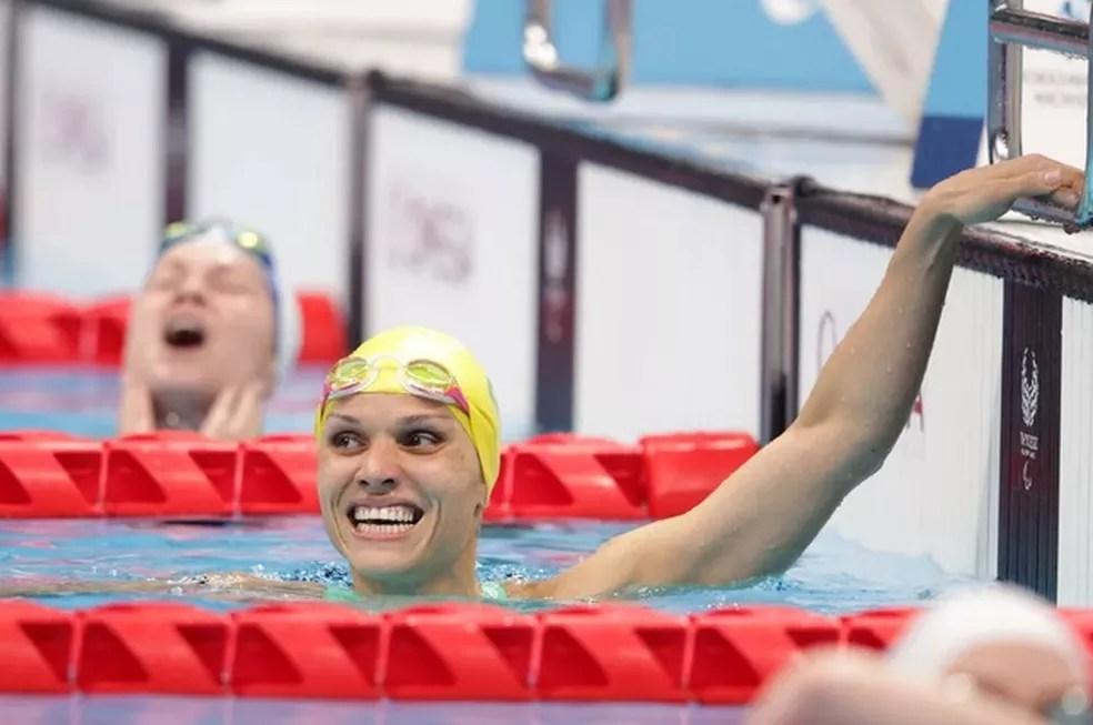 Carol Santiago conquistou cinco medalhas nas Paralimpíadas Tóquio — Foto: Adam Pretty/Getty Images