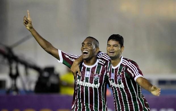 Digão e Gum comemora, Fluminense x Criciuma (Foto: Carlos Moraes/Agência Estado)