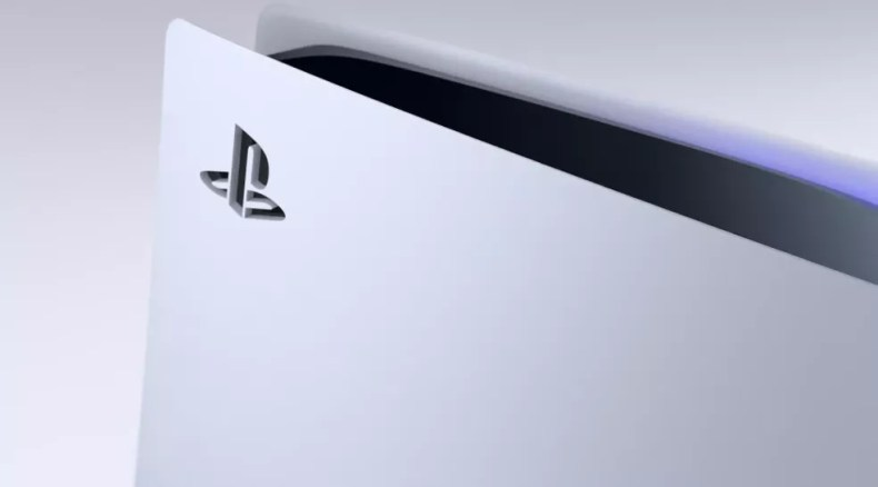 Detalhe do design do PS5, revelado em evento da Sony — Foto: Reprodução/Sony