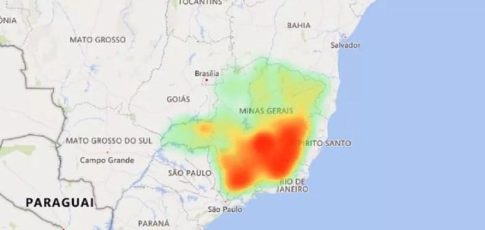 Distribuição dos casos de Covid-19 em Minas no dia 12 de julho. — Foto: SES / Reprodução
