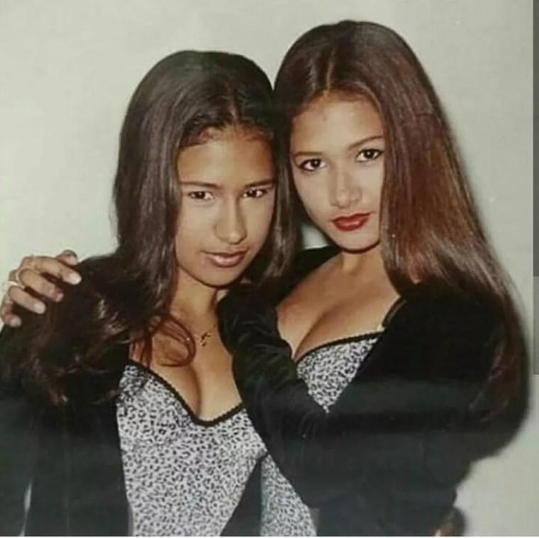 Simone & Simaria começaram a cantar muito jovens — Foto: Arquivo pessoal