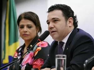 O deputado Pastor Marco Feliciano (PSC-SP), na sessão em que foi eleito presidente da Comissão de Direitos Humanos, na quinta (7) (Foto: Alexandra Martins/Câmara dos Deputados)