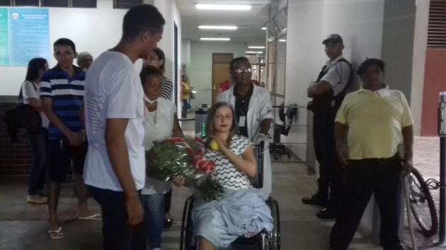 Jovem se recuperou após acidente com lancha no lago de Palmas (Foto: Aurora Fernandes/TV Anhanguera)
