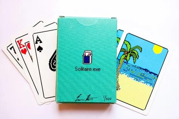 Designer cria cartas baseadas no game 'Paciência' do Windows 98 (Foto: Divulgação)