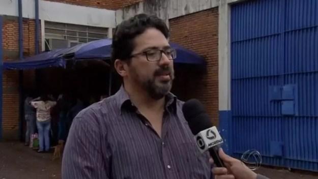 Jail Azambuja, na época em que atuava na defesa do ex-prefeito de Campo Grande MS (Foto: Reprodução/ TV Morena)