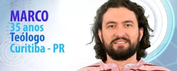 Teólogo Marco é o novo participante do BBB (Foto: Divulgação/TV Globo)