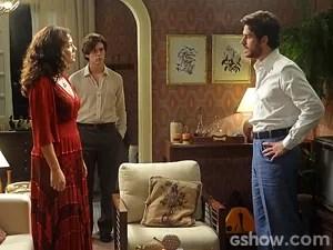 Cris pressiona o sobrinho (Foto: Boogie Oogie/TV Globo)