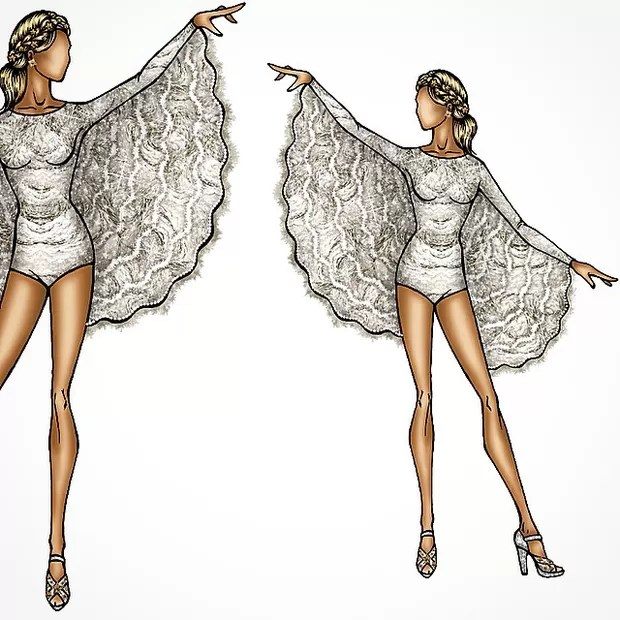 Croqui da fantasia de Claudia Leitte (Foto: Reprodução/Instagram)