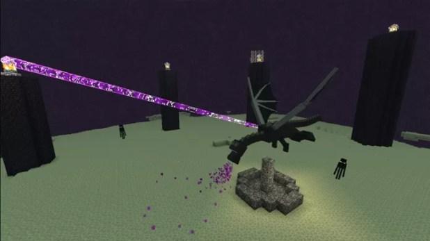 Ao final do modo Survival o Ender Dragon estará esperando por você para uma batalha (Foto: Reprodução/XBLA Fans)
