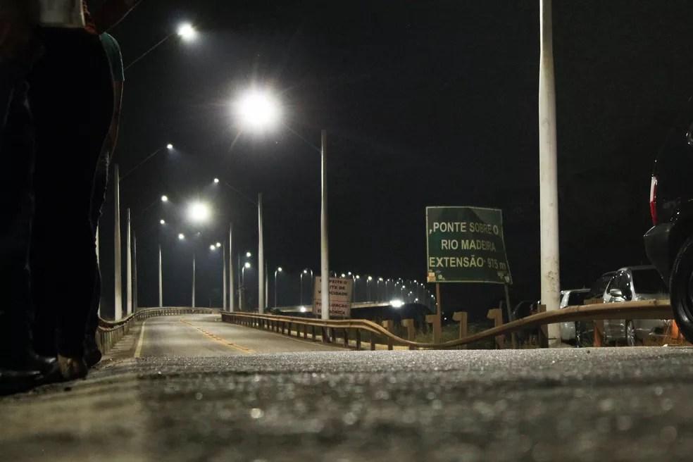 Ponte sobre o rio Madeira — Foto: Armando Junior/Rede Amazônica