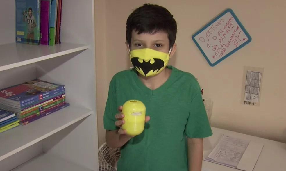 João Bernardo, de nove anos, tentou comprar uma casa com parcelas de R$ 50 mensais — Foto: Reprodução/RPC