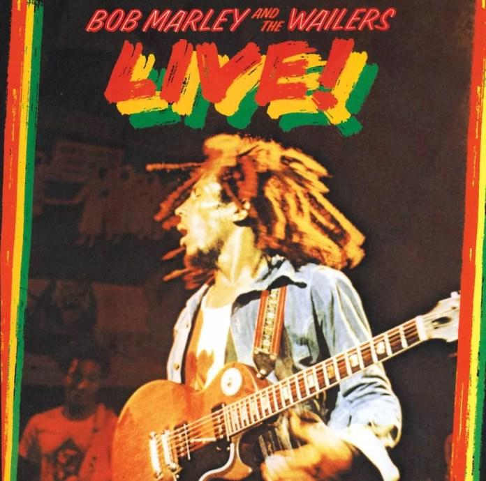 Capa do álbum 'Live', de Bob Marley & the Wailers - 1975 — Foto: Reprodução