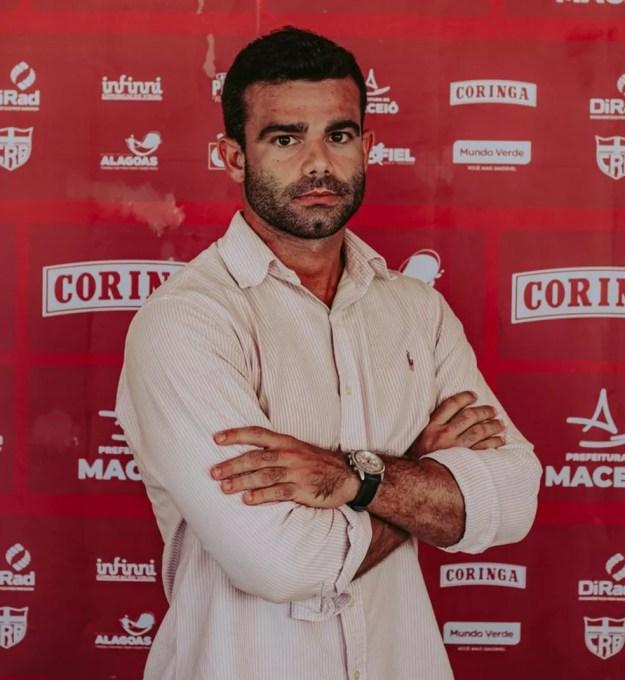 Ajax Caldas disse que Roberto Fernandes testou positivo para Covid e outros dois atletas seguem em isolamento — Foto: Nathália Lopes/ASCOM CRB