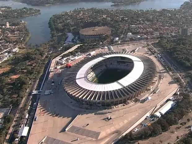 Estádio Mineirão, em Belo Horizonte (Foto: Reprodução / TV Globo)