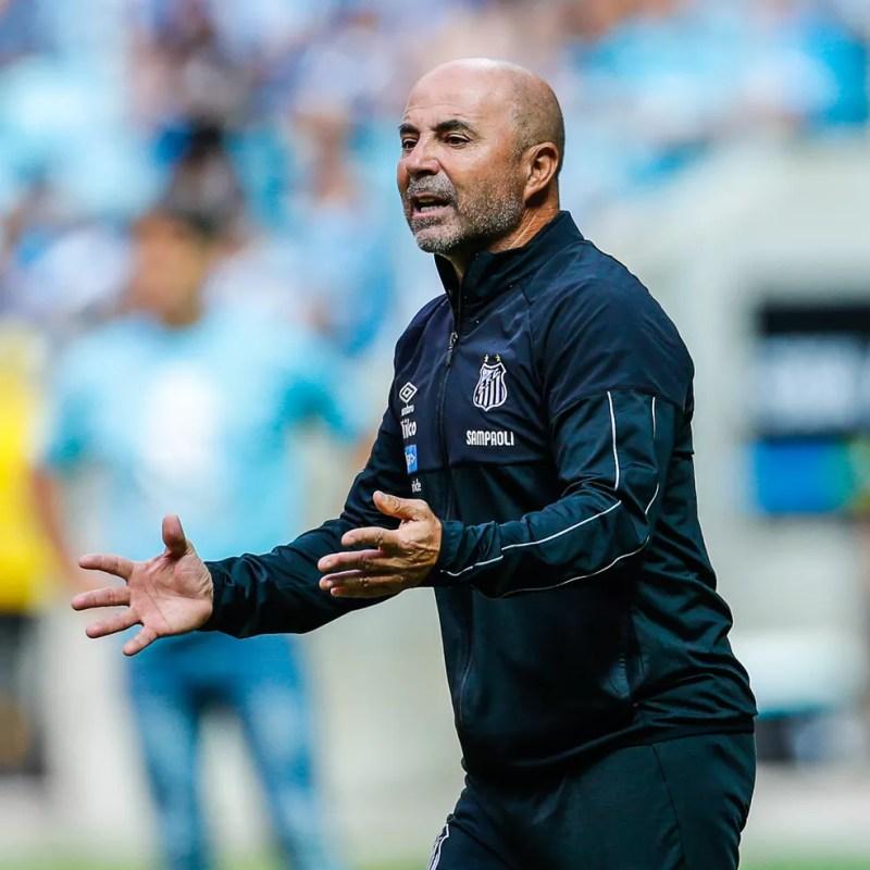 Jorge Sampaoli, técnico do Santos — Foto: Diego Vara/BP Filmes